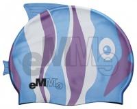 Czepek pływacki dziecięcy Emme niebiesko-fioletowa ryba