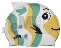Czepek pływacki dziecięcy Emme zielono-żółta ryba