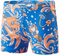 Speedo Solarpop Essential Allover Aquashort Kid Neon Blue/Fluo Orange/White