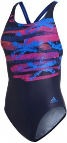 Adidas Fitness Training Suit Placed Print Blue/Pink