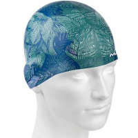 Mad Wave Blue Flower Swim Cap
