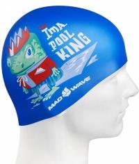 Mad Wave Pool King Swim Cap Junior