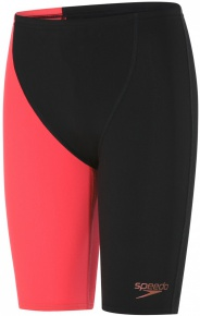 Speedo Endurance+ High Waisted Jammer Boy Black/Red