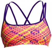 Funkita Best Cellar Criss Cross Sports Top