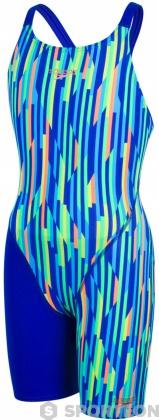 Speedo Fastskin Endurance+ Openback Kneeskin Girl Ultrasonic/Fluo Orange/Windsor Blue