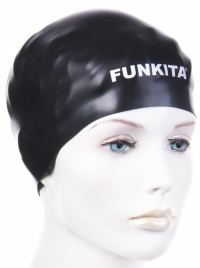 Funkita Still Black Swimming Cap