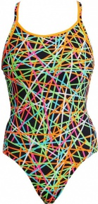 Funkita Strapped In Diamond Back One Piece Girls