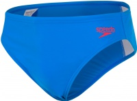 Speedo Essential Logo Brief Boy Brilliant Blue/Fed Red