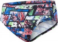 Speedo Marvel Avengers Allover Brief Boy Black/Neon Blue/Lava Red