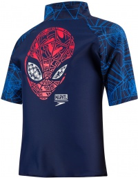 Speedo Marvel Spiderman Sun Top Boy Navy/Lava Red/Neon Blue