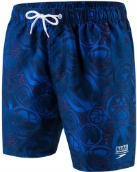 Speedo Marvel Allover Watershort 16 Navy/Neon Blue/Lava Red