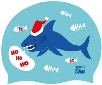 BornToSwim Christmas Shark Cap