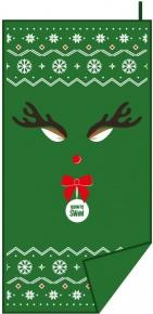 BornToSwim Christmas Reindeer Towel