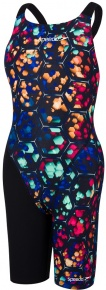 Speedo Fastskin Endurance+ Openback Kneeskin Girl Black/Beautiful Blue/Phoenix Red