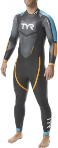 Tyr Hurricane Wetsuit Cat 2 Men Black/Blue/Orange