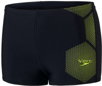 Speedo Tech Placement Aquashort Boy True Navy/Fluo Yellow