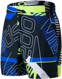 Speedo Vintage Paradise 16 Watershort True Navy/White/Fluo Yellow/Bondi Blue