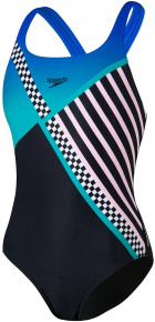 Speedo Digital Placement Medalist Girl Black/Jade/White/Cotton Candy/Bondi Blue