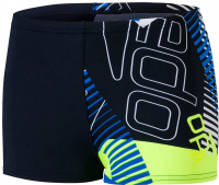 Speedo Allover Aquashort Boy True Navy/Bondi Blue/Fluo Yellow/White