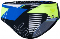 Speedo Allover 6.5cm Brief Boy True Navy/Bondi Blue/Fluo Yellow/White