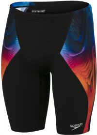 Speedo Placement Digital V-Cut Jammer Black/Dragonfire Orange/Light Adriatic/Blue Flame