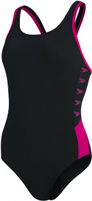 Speedo Boom Logo Splice Muscleback Black/Electric Pink